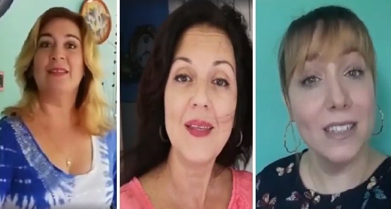 Artistas cubanas felicitan a los padres