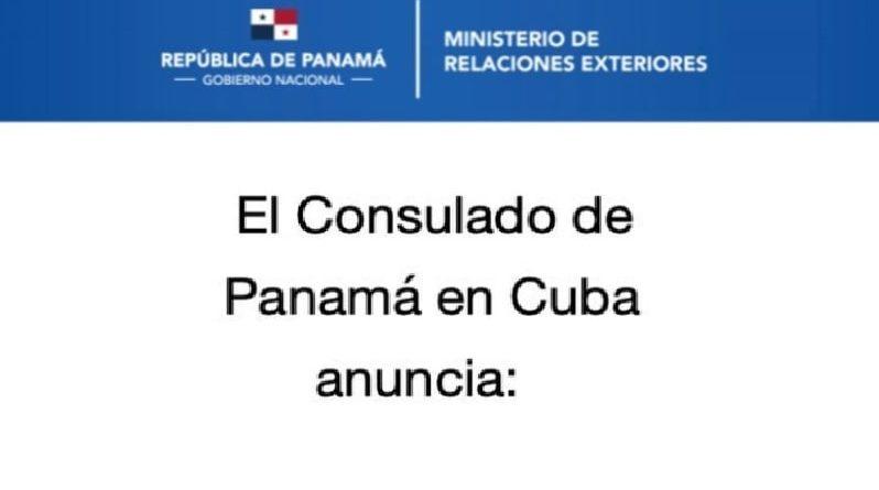 Consulado de Panamá en Cuba reanuda servicios habituales