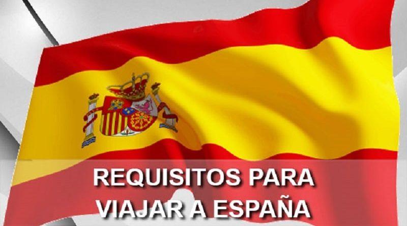 Formulario especial para poder viajar a España