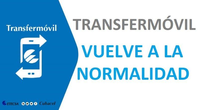Transfermóvil vuelve a la normalidad según ETECSA