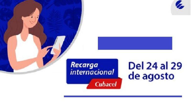 ETECSA anuncia recarga internacional con bono de 40 CUC