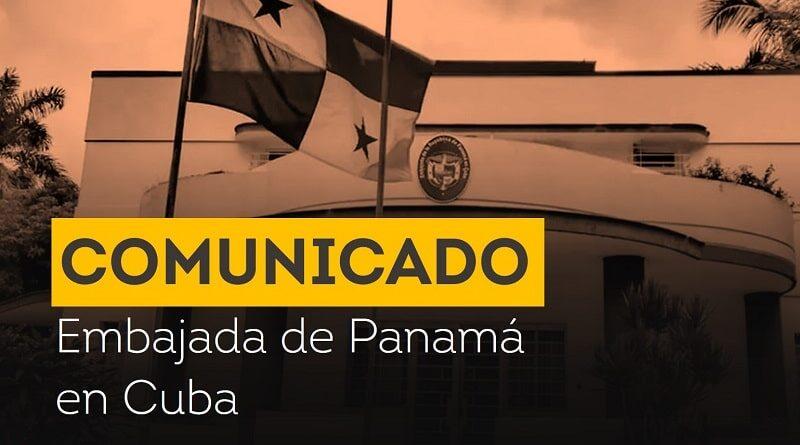 Embajada de Panamá en Cuba emite comunicado