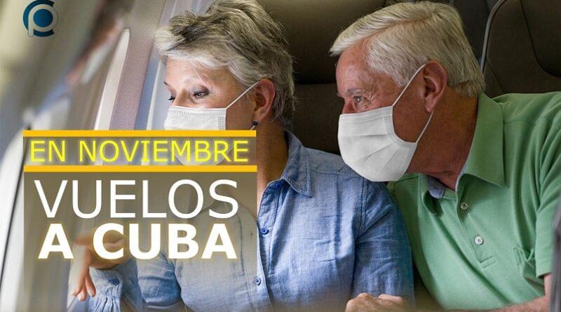 Vuelos a Cuba a partir de la segunda quincena de noviembre