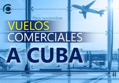 Vuelos comerciales a Cuba en noviembre