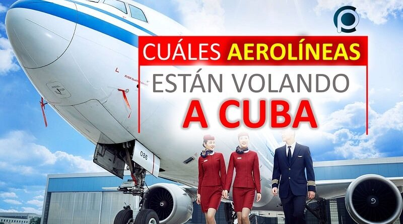 Aerolíneas con vuelos a Cuba