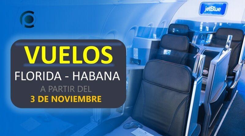 JetBlue anuncia vuelos Florida-Habana