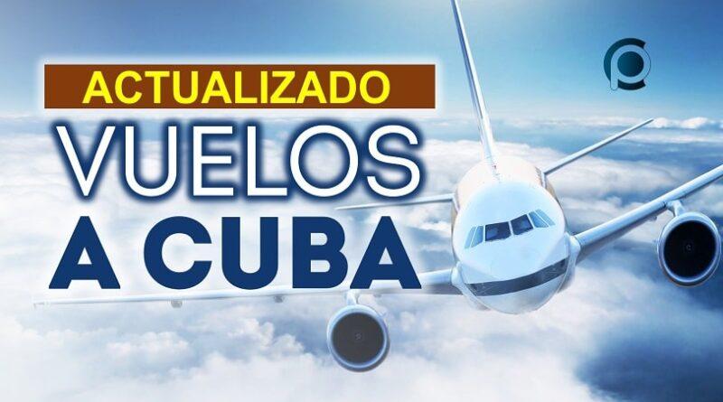 Opciones de vuelos comerciales a Cuba