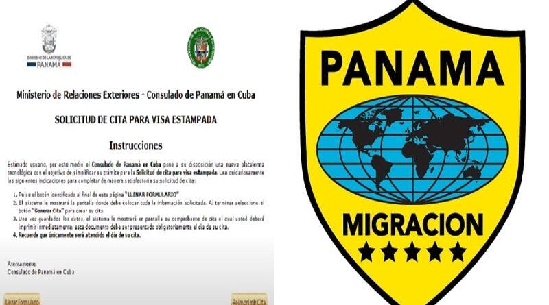 Solicitud de cita para visa estampada en Panamá