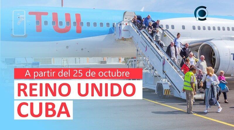 Tui retomará ruta Reino Unido-Cuba