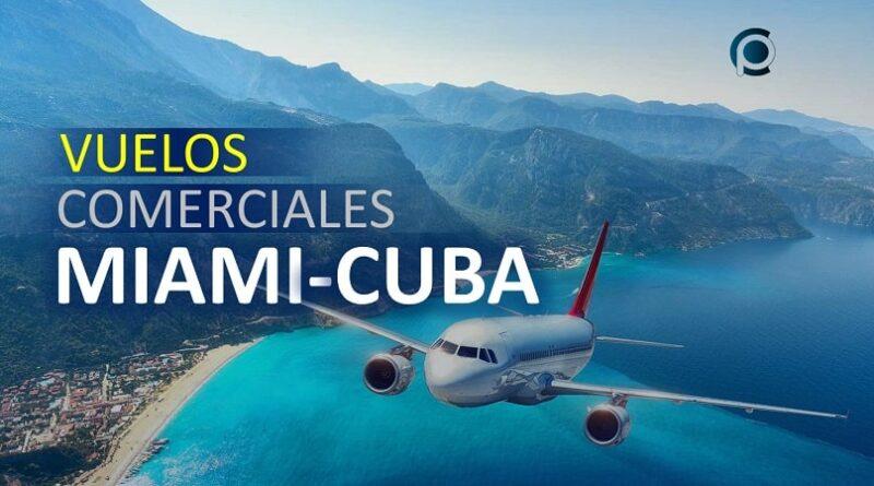Vuelos entre Miami y Cuba
