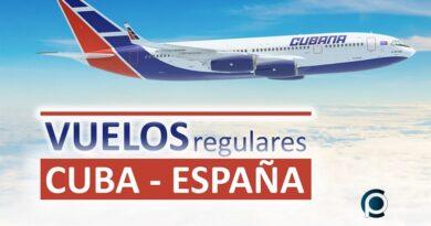 Vuelos regulares entre Cuba y España