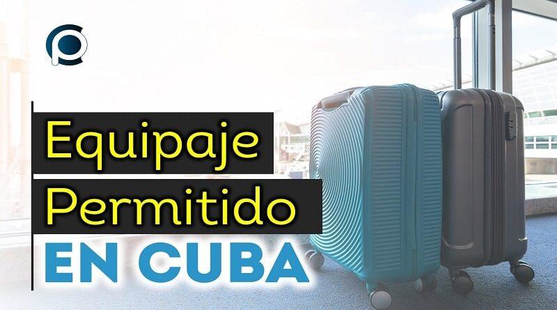 Actualización de equipaje permitido en Cuba