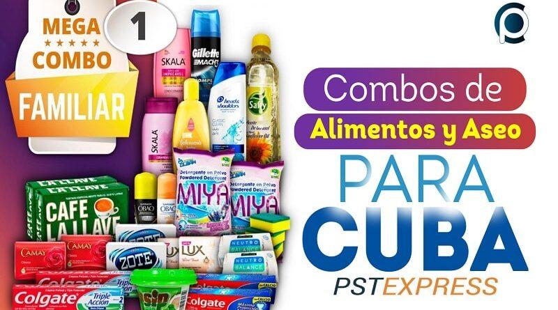 Enviar combos de alimentos y aseo a Cuba con PstExpress
