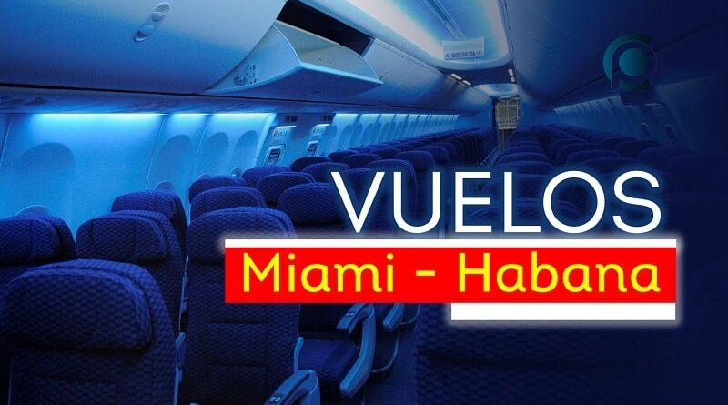 Vuelos Miami-Habana en diciembre