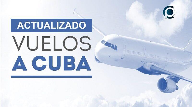 Aerolíneas y vuelos permitidos en Cuba actualmente