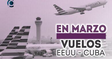 Vuelos entre Estados Unidos y Cuba en marzo