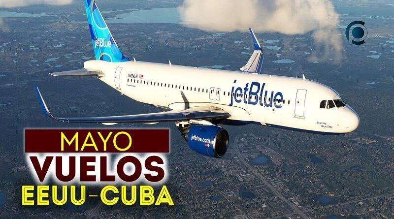 Vuelos entre Estados Unidos y Cuba en mayo