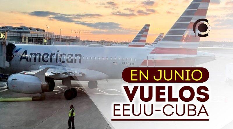 Vuelos entre EEUU y Cuba en el mes de junio