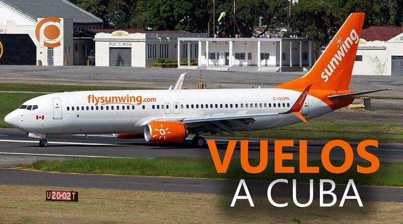 Sunwing retomará vuelos a Cuba
