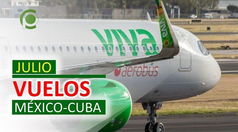 Vuelos entre México y Cuba en Julio
