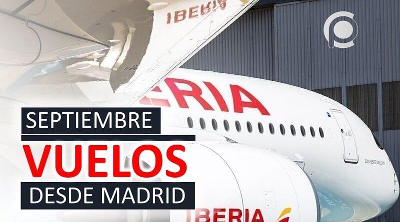 Vuelos entre España y Cuba en septiembre