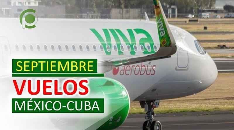 Vuelos entre México y Cuba en Septiembre