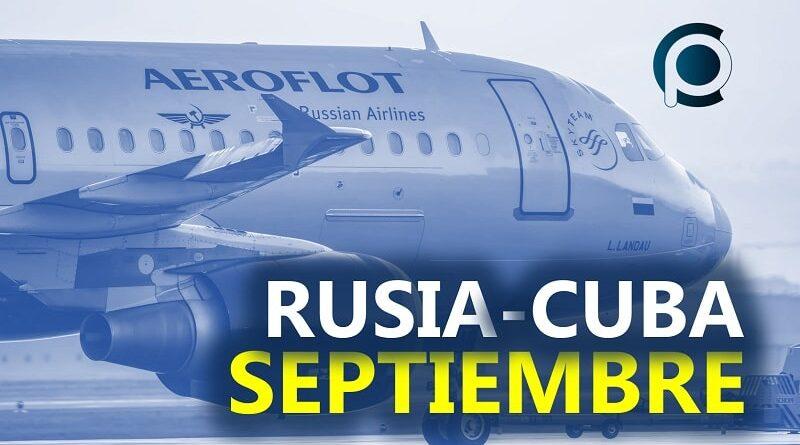 Vuelos entre Rusia y Cuba en Septiembre