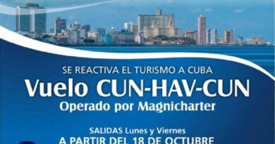 Vuelos de Magnicharters en la ruta Cancún-La Habana